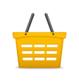 Orange Shopping Basket vector image vector image