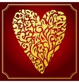 Gold lace ornamental heart Greeting card vector image