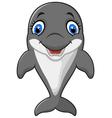 Cartoon funny dolphin vector image vector image
