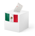 Ballot box with voicing paper Mexico vector image
