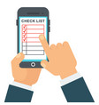 check list mobile vector image