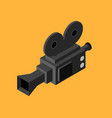 cinema video camera isometric view vector image
