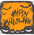 halloween background hand drawn lettering vector image