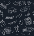 hand drawn seamless pattern american vector image