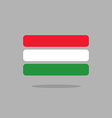 Hungary flag Stylized Hungarian flag from geometry vector image