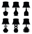 lamp set antique in black color on white vector image