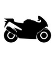 motorcycle black color icon vector image