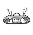 retro device - old tape recorder vector image
