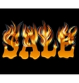Sale Design with Fire and melting vector image