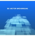 Virtual technology background vector image