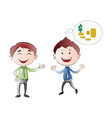 young businessmen thinking of financial success vector image