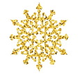 Christmas gold card with snowflake vector image