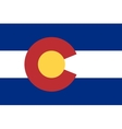 Flag of Colorado in correct proportions and colors vector image