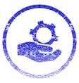 engineering service grunge textured icon vector image