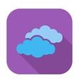 Overcast single flat icon vector image vector image