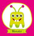 monster design vector image