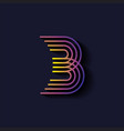Letter B logo template Parallel lines style with vector image