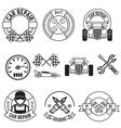 car repair line labels vector image