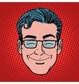 Emoji fun smile man face icon symbol vector image