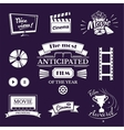 Movie signs set vector image