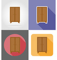furniture flat icons 21 vector image