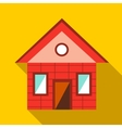 Toy house icon flat style vector image