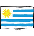abstract uruguay flag or banner vector image