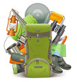 Camping Concept with Haversack vector image