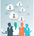 Colorful silhouette business people vector image