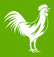 gallic rooster icon green vector image