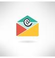 Internet mail in modern flat design vector image