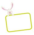 Label frame rabbit vector image