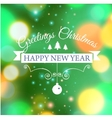 Merry Christmas e-card template vector image