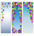 Set of greeting banners happy birthday with vector image