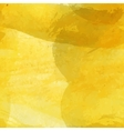 Yellow watercolor background vector image