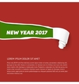 New Year colors hole in cardboard teared sides so vector image