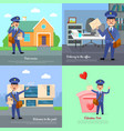 post service delivery to office welcome post vector image