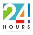 24-hour Business Logo Client Design vector image