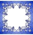 Blue floral frame vector image
