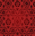 Red and black Seamless abstract floral pattern vector image