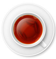Black tea vector image