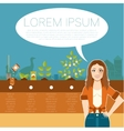 Grow trees banner vector image