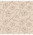 Retro Flowers Seamless vector image vector image