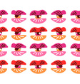 Surrealistic lips and eyes Seamless pattern eps 10 vector image vector image