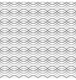 Black seamless wavy line abstract pattern vector image