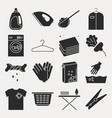 collection of laundry icons set of housework vector image