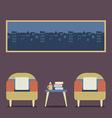 Flat Design Empty Seats Vintage Interior vector image