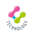logo colored atoms for technology vector image
