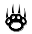 paw print-claws vector image