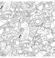 seamless abstract doodle background summer vector image
